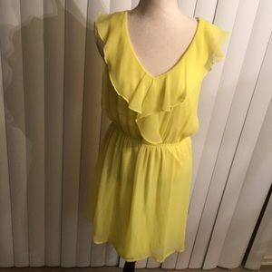 Chiffon Ruffle Top Dress